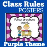 Kindergarten Classroom Rules Posters
