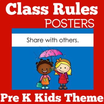 Kindergarten Class Rules | Kindergarten Classroom Rules