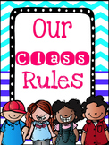 Kindergarten Class Rules Posters and Decodable