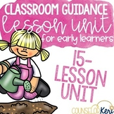 Kindergarten School Counseling Classroom Guidance Lesson Unit Bundle