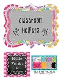 Kindergarten Classroom Helpers
