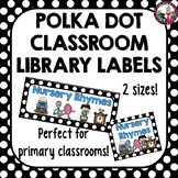 Classroom Library Labels with Labels for Books too!  for Kindergarten