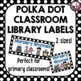 Classroom Library Labels Polka Dot