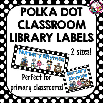Classroom Library Labels with Labels for Books too!  for K