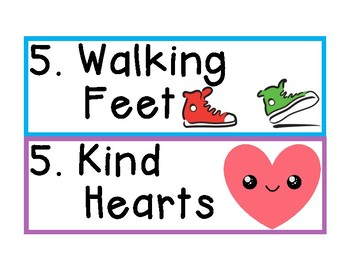 Kindergarten Classroom Rules Poster