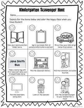image relating to Classroom Scavenger Hunt Printable titled Kindergarten Clroom Scavenger Hunt