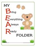 Kindergarten Classroom Start-Up Pack (Teddy Bear Theme)