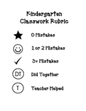 Kindergarten Classwork Rubric - Feedback for Parents