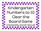 Kindergarten Clear the Board