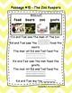 Kindergarten Cloze Reading Passages FREEBIE