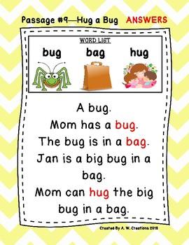 Kindergarten Cloze Reading Passages 1-15