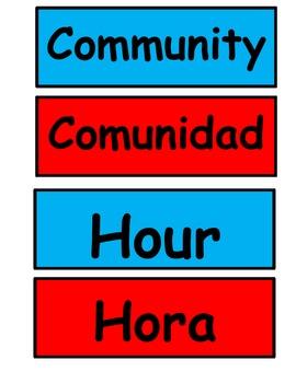 Kindergarten Cognates