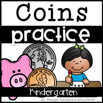 Kindergarten Coins Practice Pages