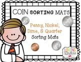 Kindergarten Coins, Sorting Mats