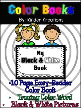 Kindergarten Color Book - Black & White
