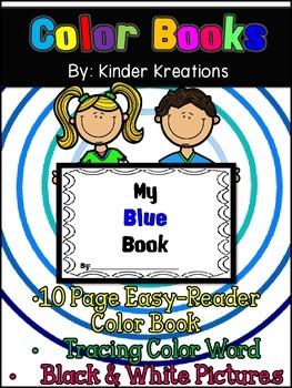 Kindergarten Color Book - Blue