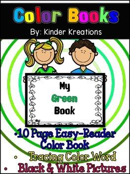 Kindergarten Color Book - Green