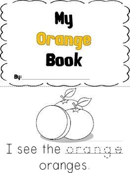 Kindergarten Color Book - Orange