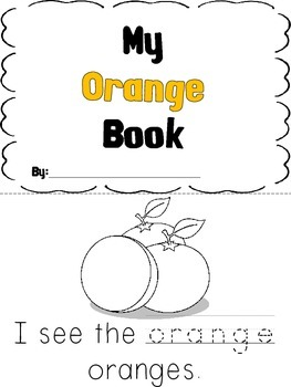 Kindergarten Color Book - Orange