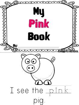 Kindergarten Color Book - Pink