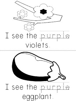 Kindergarten Color Book - Purple
