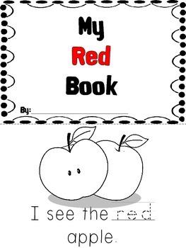 Kindergarten Color Book - Red
