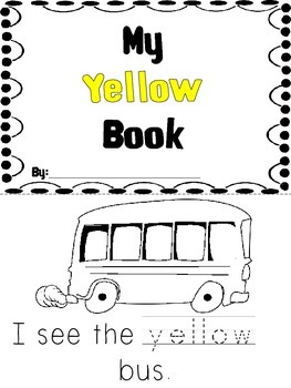 Kindergarten Color Book - Yellow