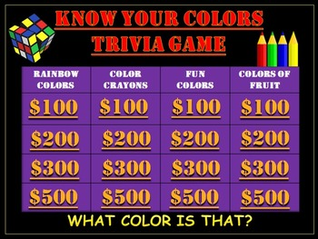 Kindergarten Color Game: Know Your Colors Game!