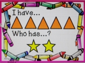 Kindergarten Color, Shape, and Size I Have Who Has Vocabulary Game
