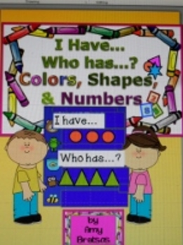Kindergarten Color, Shape, and Size I Have Who Has Vocabul