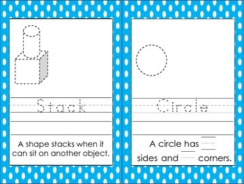 Kindergarten Color Shapes Vocabulary Book: K.G.A.2, K.G.A.3, and K.G.B.4