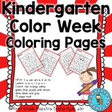 Kindergarten Color Week Color by Letter and Sight Word Coloring Sheets