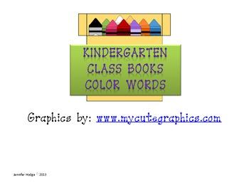 Kindergarten Color Word Books