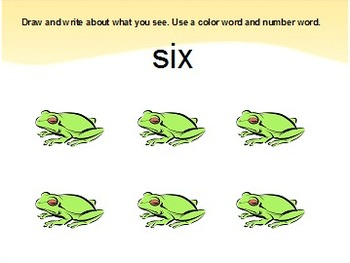 Color and Number Writing Prompts