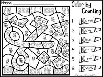 Kindergarten Color by Code (Growing Bundle)