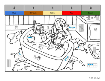 Kindergarten Color by Quantity Coloring Book - January Themes