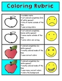 Kindergarten Coloring Rubric Poster