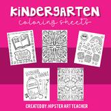 Kindergarten Coloring Sheets