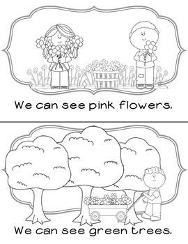 Kindergarten Colors Emergent Reader