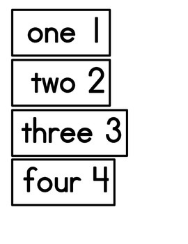 Kindergarten Colors and Numbers 1-20 Word Wall