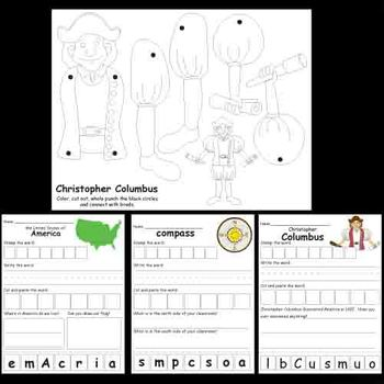 Kindergarten Columbus Activities