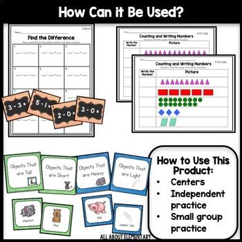 Kindergarten Common Core Math Work Stations Bundle