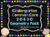 Geometry Worksheets, Activities, Centers, and Posters for Kindergarten