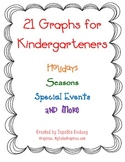 Kindergarten Common Core: 21 Graphs (Holidays, Seasons, and More)
