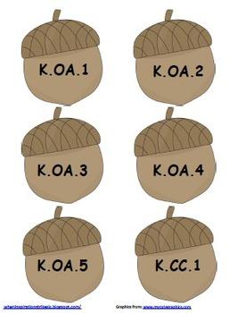 Kindergarten Common Core Acorn Tree Display