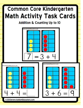 Kindergarten Common Core Addition Activity Soccer for Visual Learners
