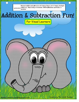 Kindergarten Common Core Addition & Subtraction Fun for Visual Learners (Autism)