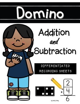 Kindergarten Common Core Domino Addition and Subtraction
