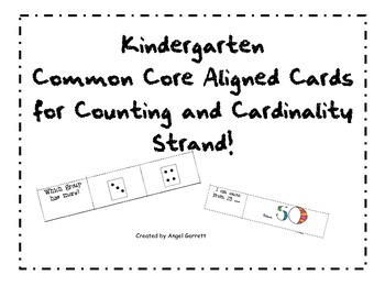 Kindergarten Common Core Aligned Review Cards for  Counting and Cardinality