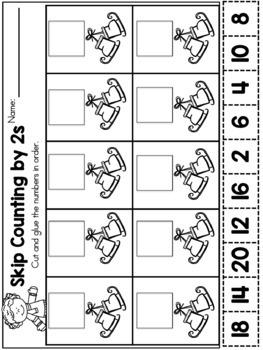 Winter Math Worksheets (Kindergarten)